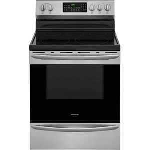 "30"" Smudge-Proof Electric Range with True Convection"