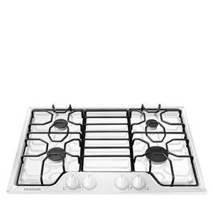"30"" Gas Cooktop with a Durable Stainless Steel Cooktop"