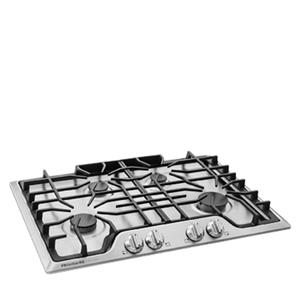"Gallery 30"" Gas Cooktop with Continuous Dishwasher Safe Cast Iron Grates"