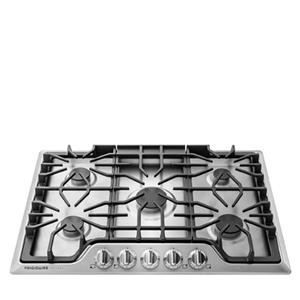 "Gallery 30"" Gas Cooktop with 5 Sealed Burners under Continuous Cast Iron Grates"