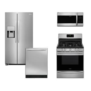 Stainless Gas Range Kitchen Package