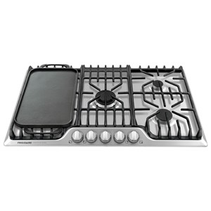 "36"" Frigidiare Professional Gas Cooktop with Griddle"