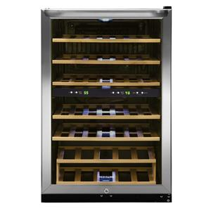 4.6 Cu. Ft. Two-Zone Wine Cooler with 38 Bottle Capacity