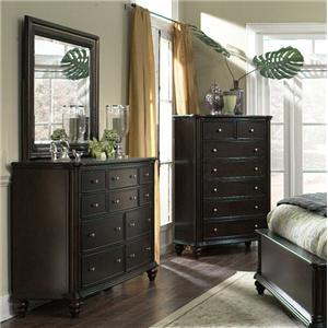 Furniture Brands, Inc. B7067 Dresser & Mirror Set