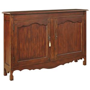 Solid Pine Hall Chest with Scalloped Apron