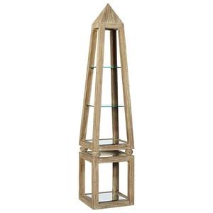 Khafra Pyramid Shelf with Glass Shelves