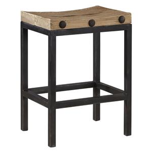 Modern Industrial Style West End Counter Stool with Reclaimed Wood
