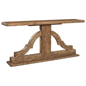 Solid Wood Bracket Console Table