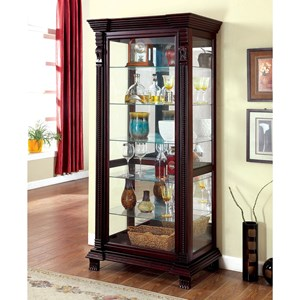 Traditional Curio Cabinet with Sliding Glass Door
