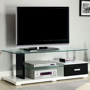 Contemporary TV Console with Drawer