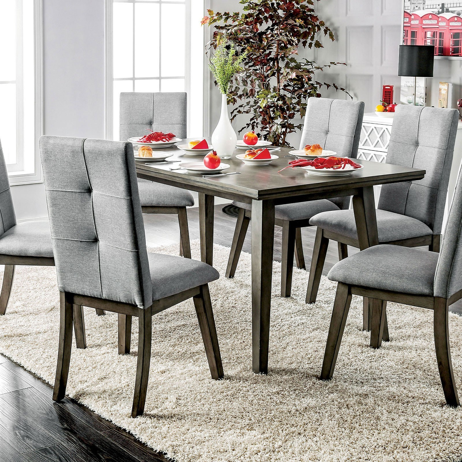 Abelone Dining Table by Furniture of America at Corner Furniture