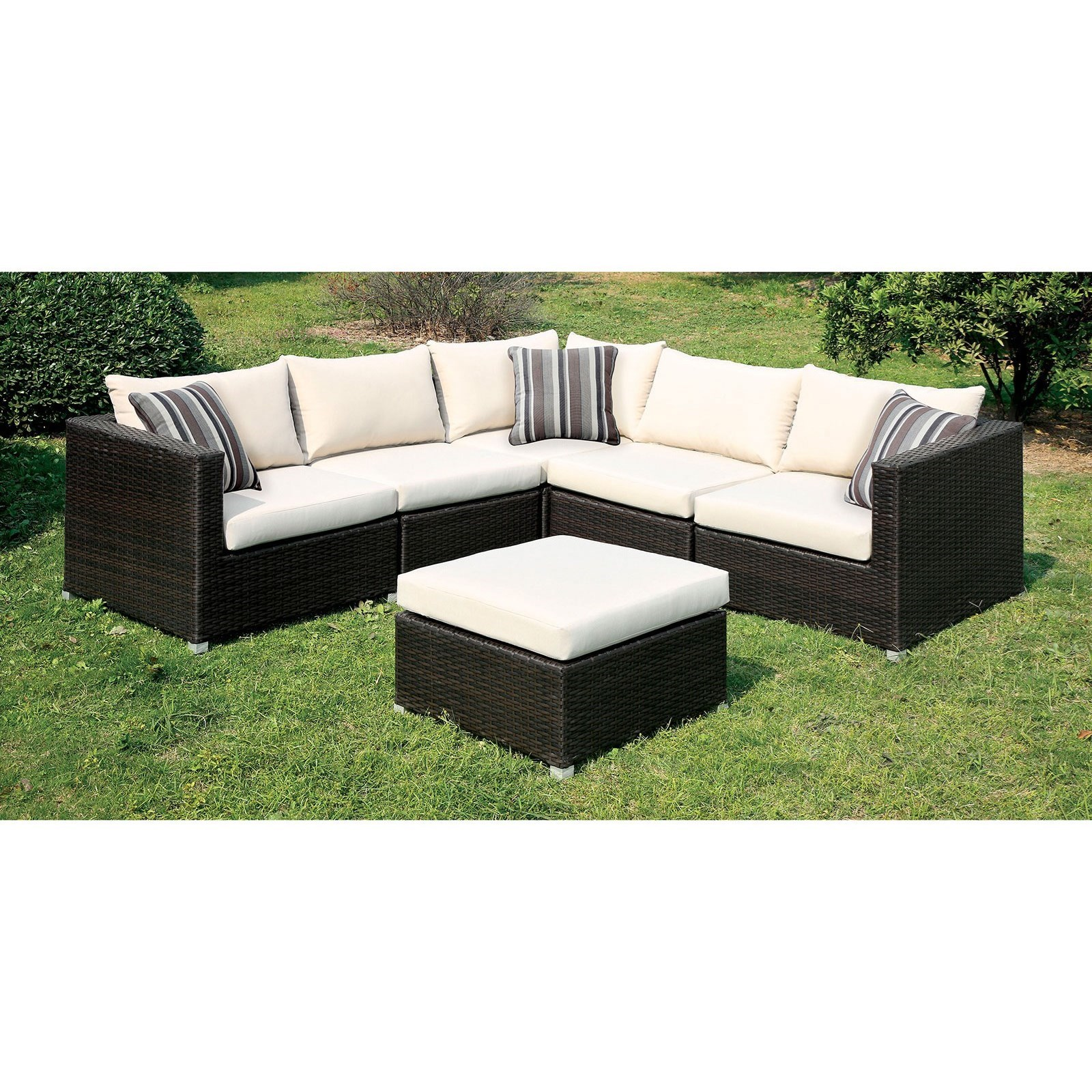 Abion Patio Sectional by Furniture of America at Nassau Furniture and Mattress