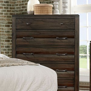 Transitional Chest with Felt-Lined Top Drawer