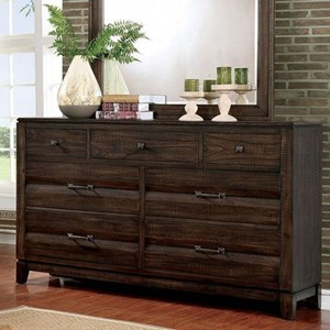 Transitional Dresser with Metal Hardware