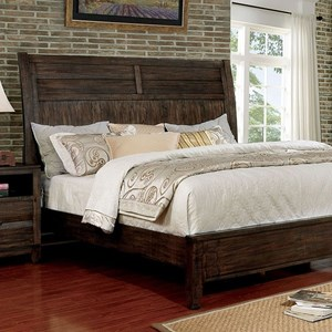 Transitional Low Profile Queen Bed