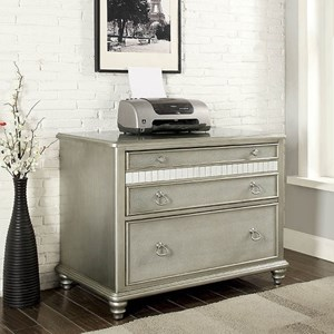 Glam Three Drawer File Cabinet