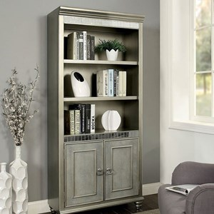 Glam Bookshelf with Mirror Accents