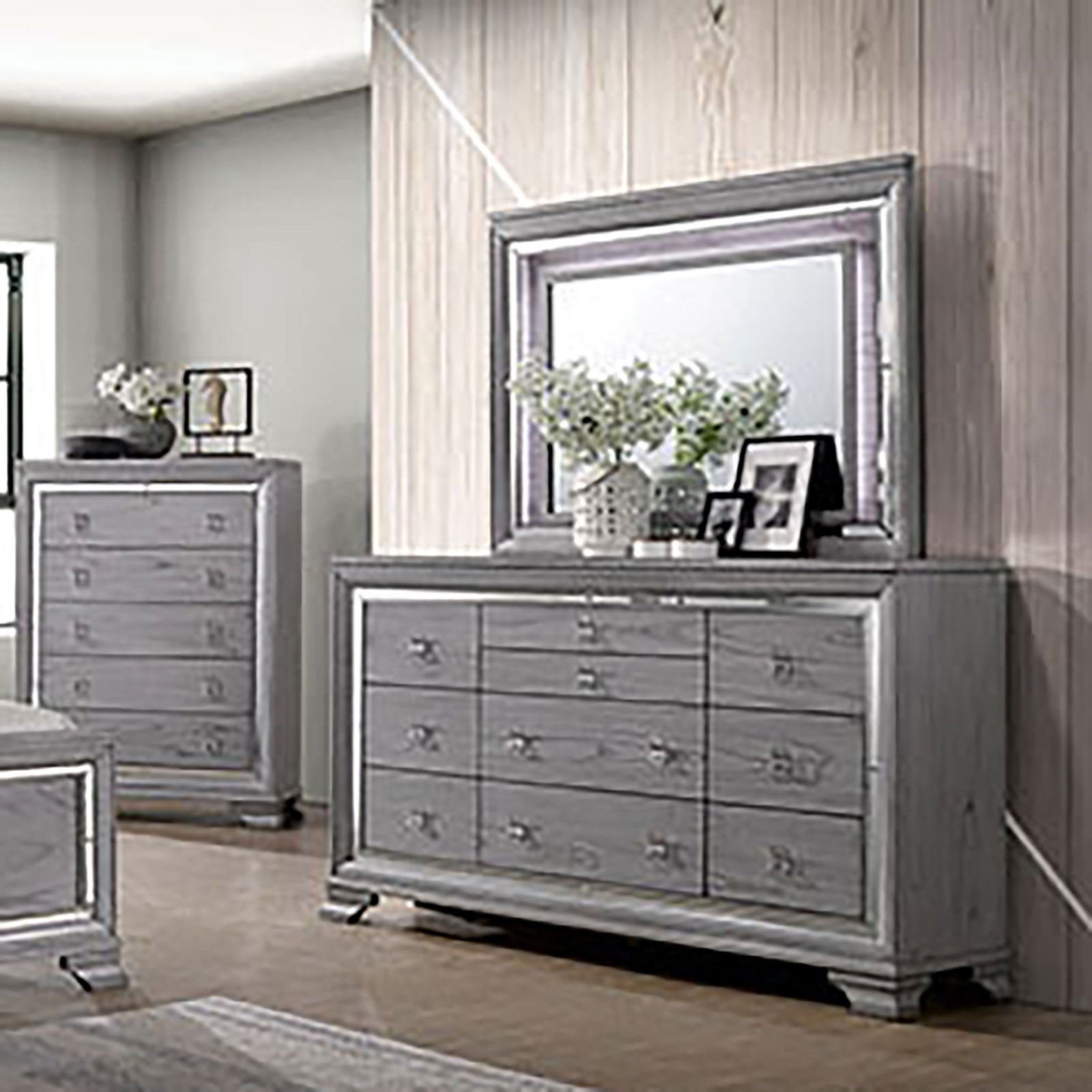Alanis Dresser and Mirror Combination at Household Furniture