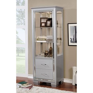 """28"""" Curio Cabinet with Built In Lighting"""