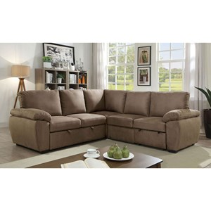 Casual Sectional with Bed Configuration