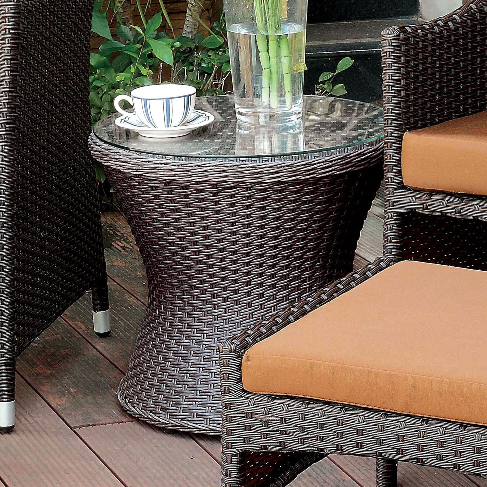 Almada Outdoor Round Side Table at Household Furniture