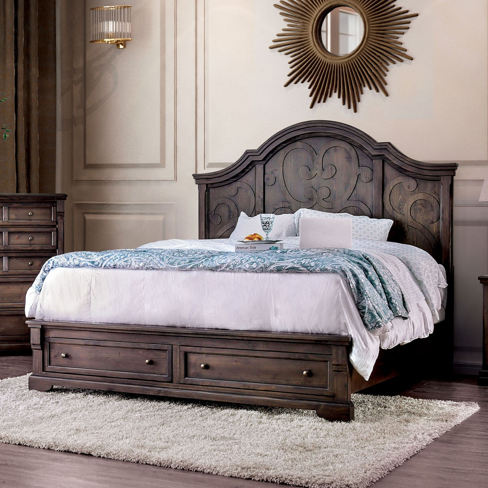 Amadora King Panel Bed by Furniture of America at Nassau Furniture and Mattress