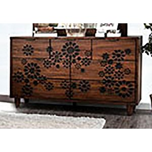 Transitional 7-Drawer Dresser with Felt-Lined Top Drawers