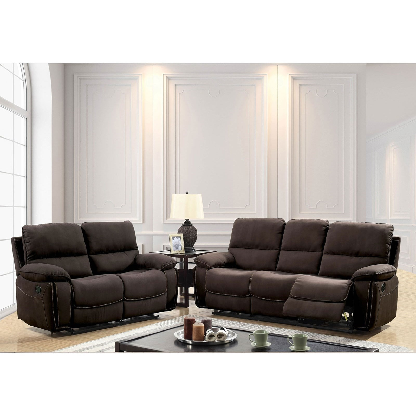 Amaris Reclining Living Room Group by Furniture of America at Nassau Furniture and Mattress