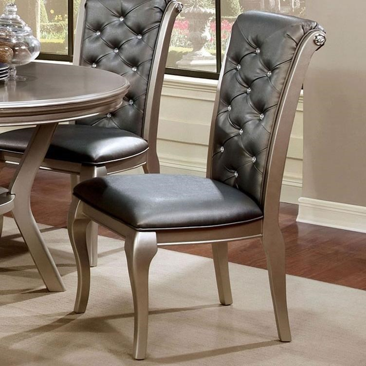 Amina Side Chair 2-Pack by Furniture of America at Corner Furniture