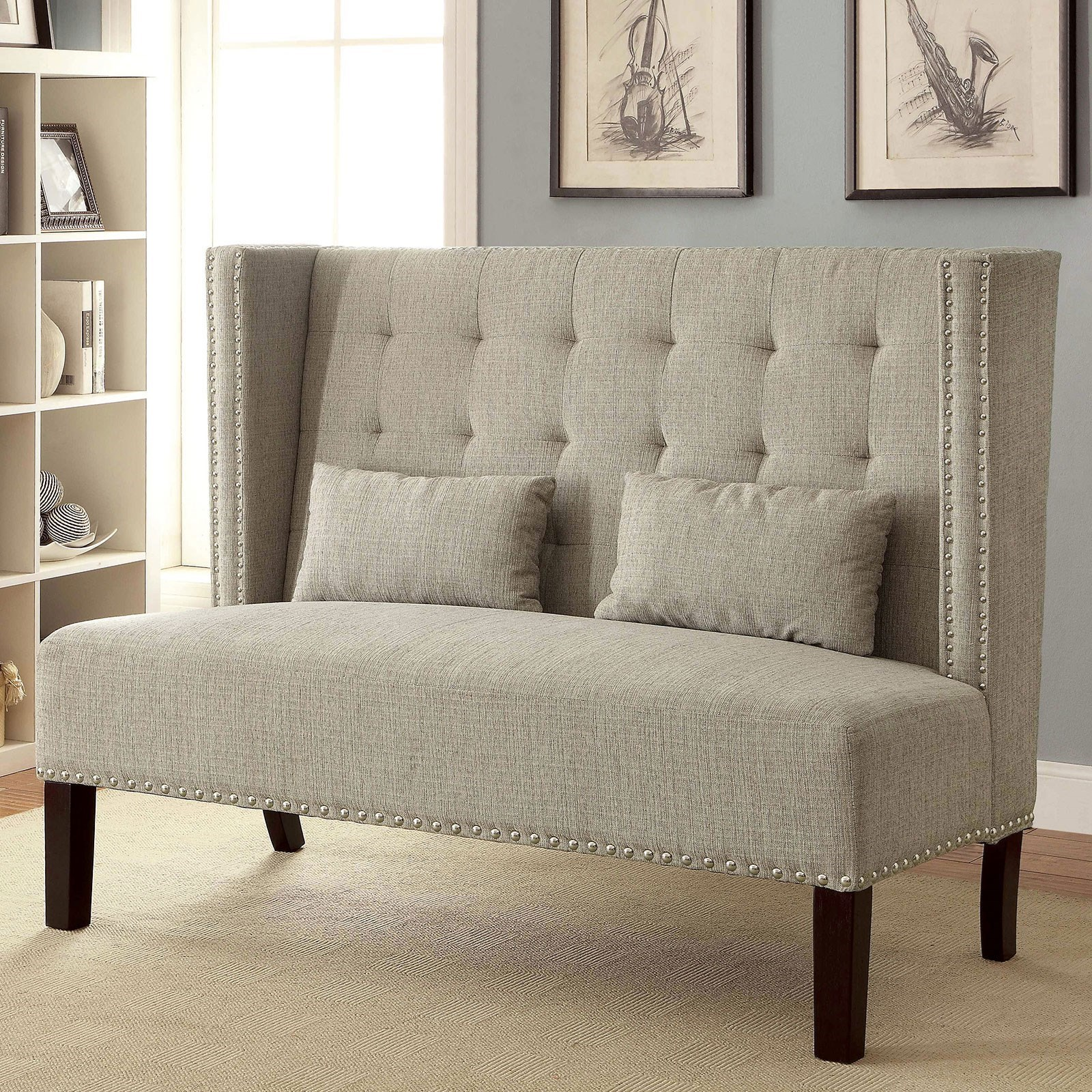 Amora Loveseat w/ Pillows at Household Furniture