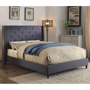 Contemporary California King Upholstered Bed