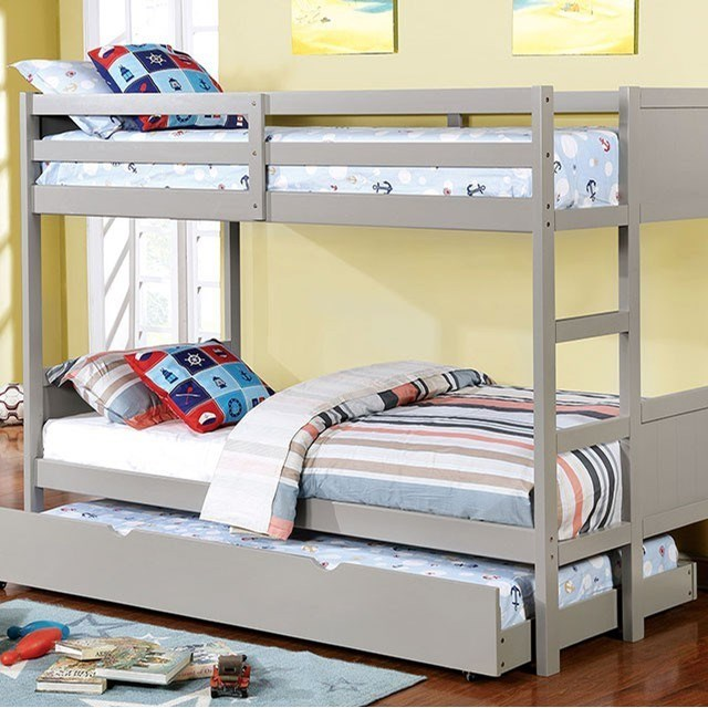 Annette Full over Full Bunk Bed by Furniture of America at Nassau Furniture and Mattress