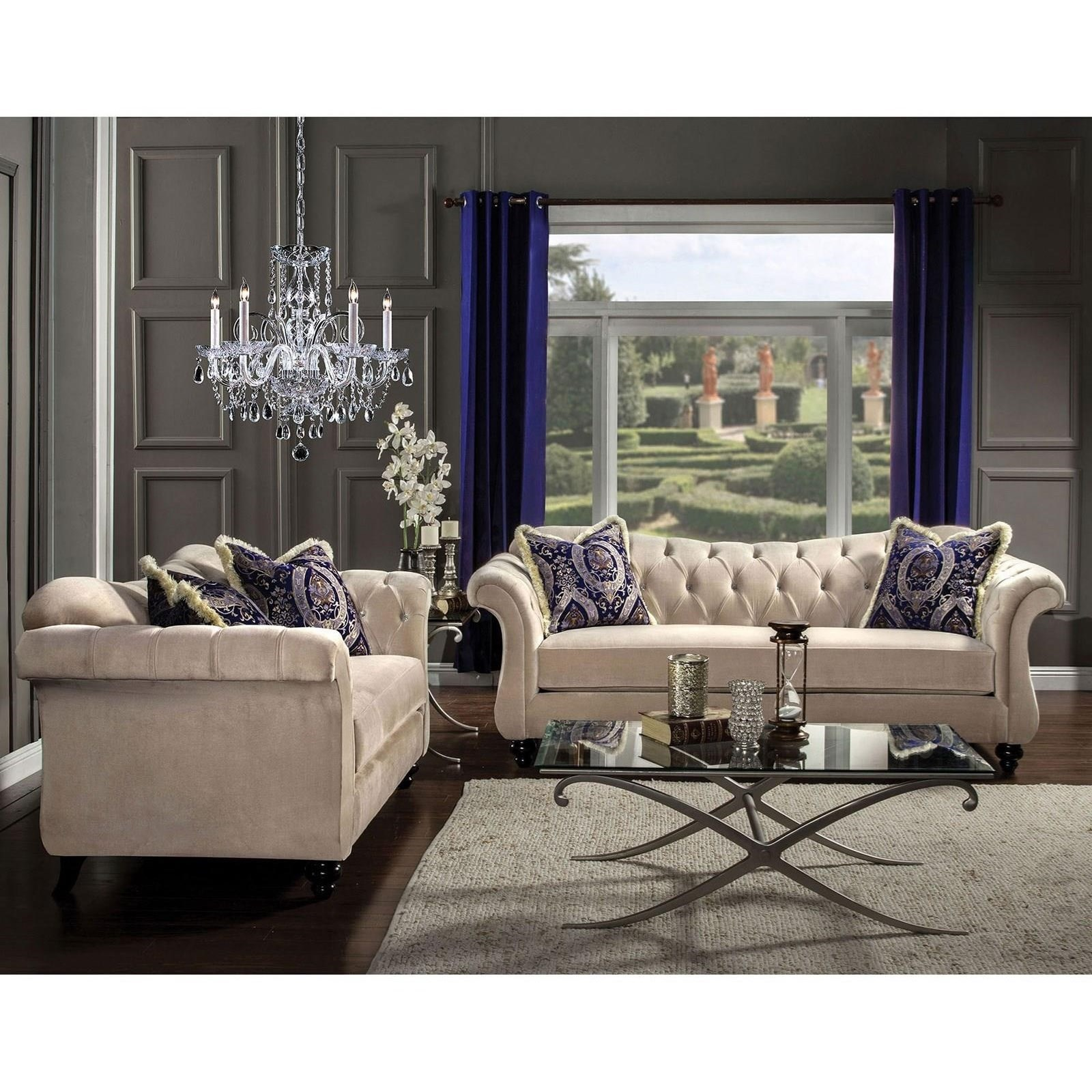 Antoinette Sofa and Love Seat at Household Furniture