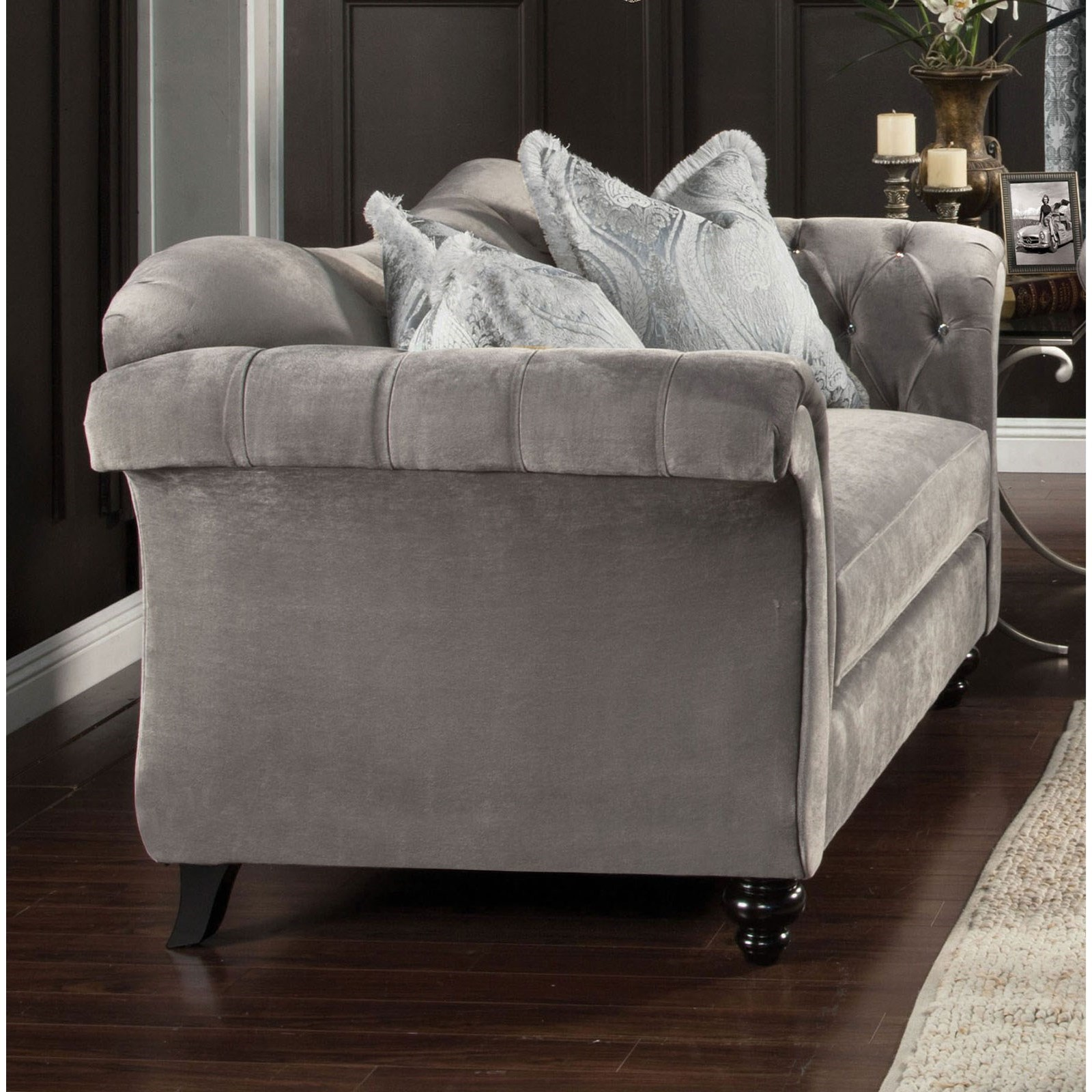 Antoinette Love Seat by Furniture of America - FOA at Del Sol Furniture