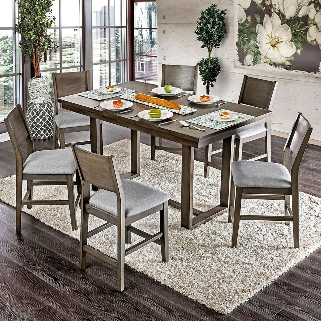 Anton II 7 Pc Counter Height Dining Set at Household Furniture