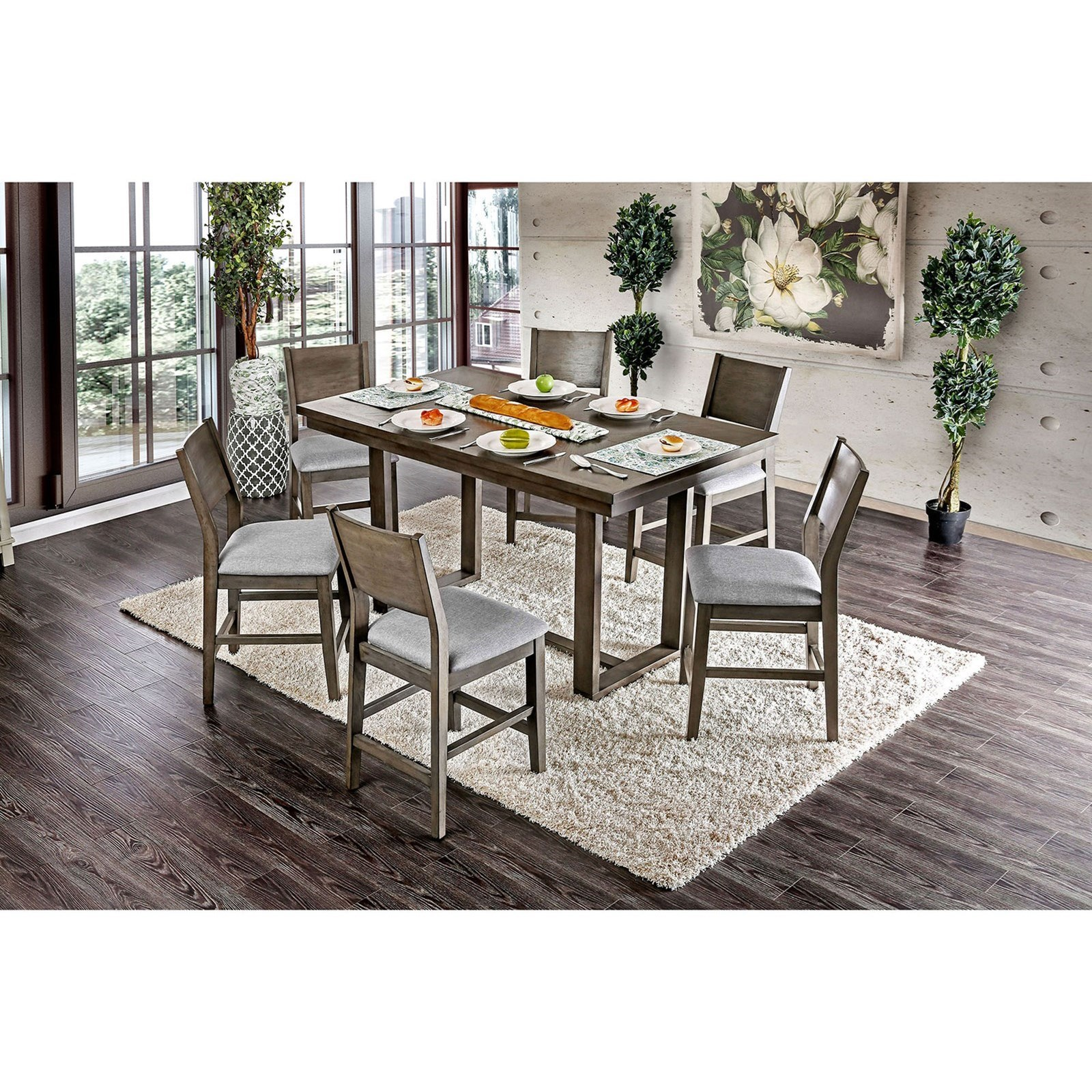 Anton II Counter Height Dining Table at Household Furniture