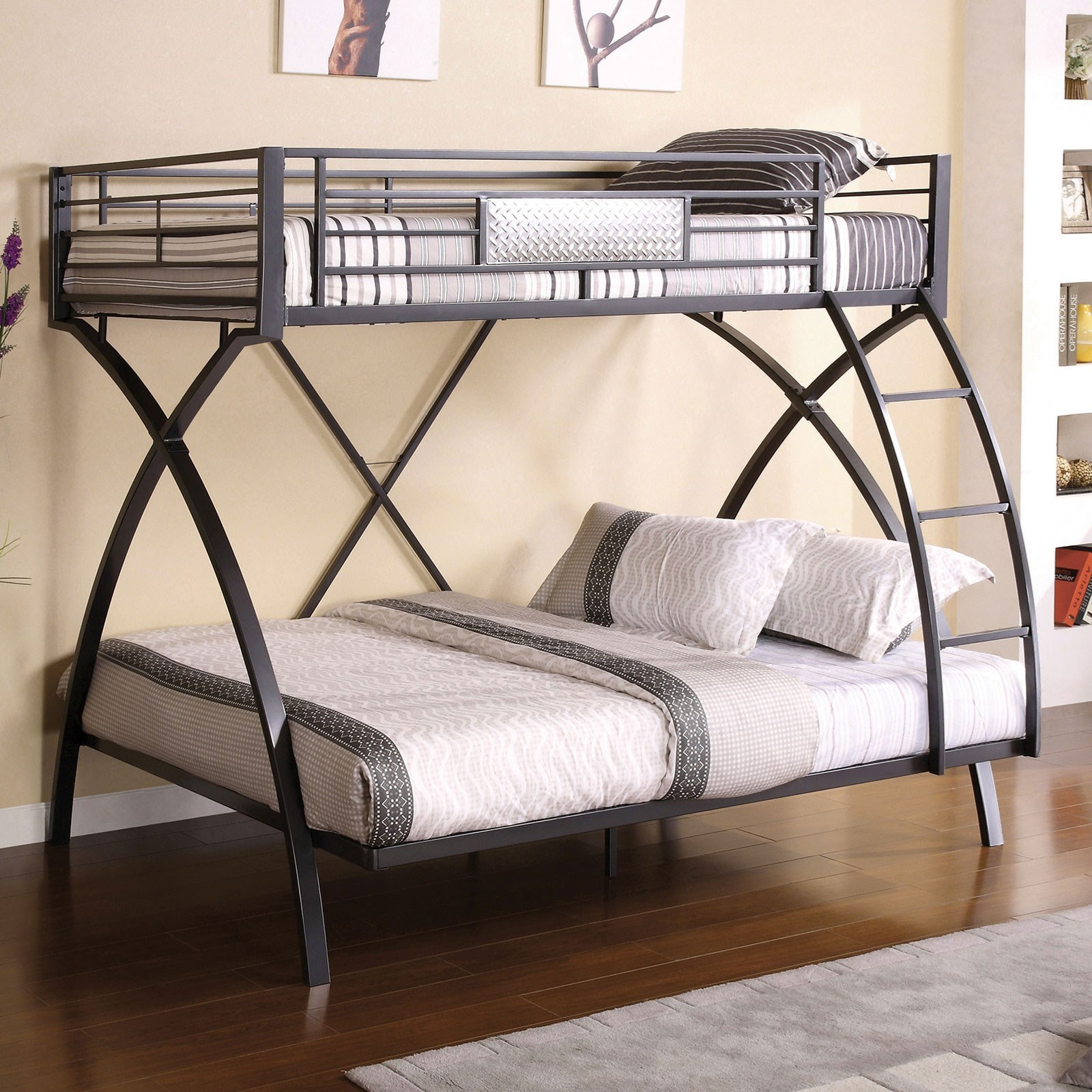 Apollo Twin/Full Bunk Bed at Household Furniture
