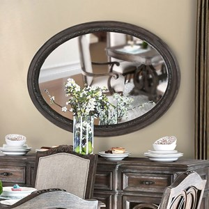 Traditional Oval Mirror with Carved Detail