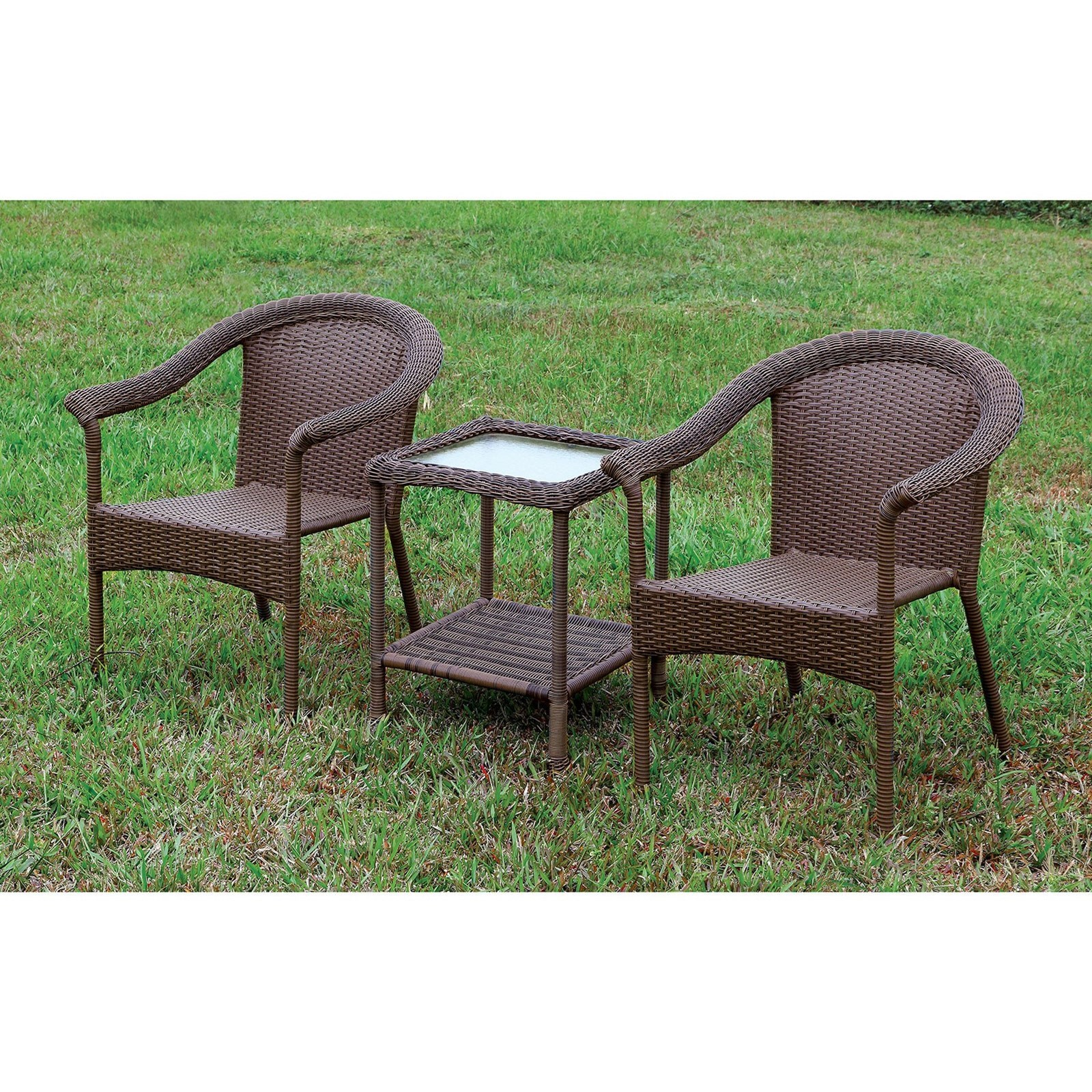 Arimo 3 Pc. Patio Set by Furniture of America at Nassau Furniture and Mattress