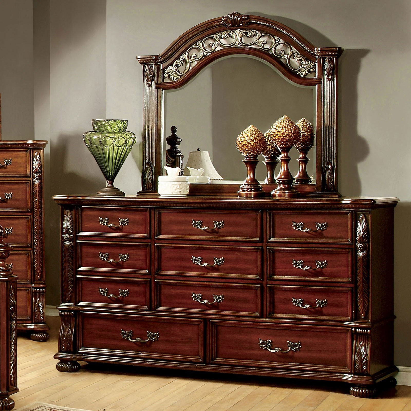 Arthur Dresser and Mirror Combination at Household Furniture