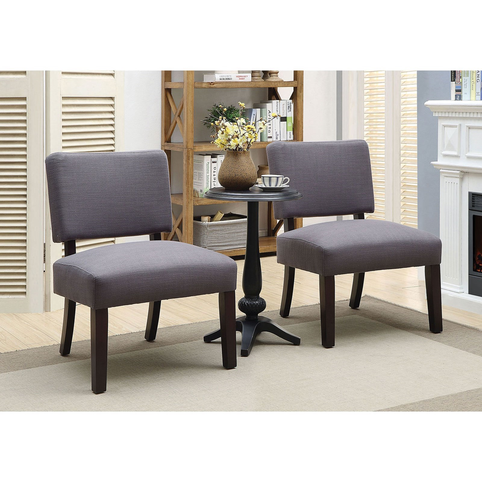 Arvid Accent Chair & Table Set by Furniture of America at Nassau Furniture and Mattress