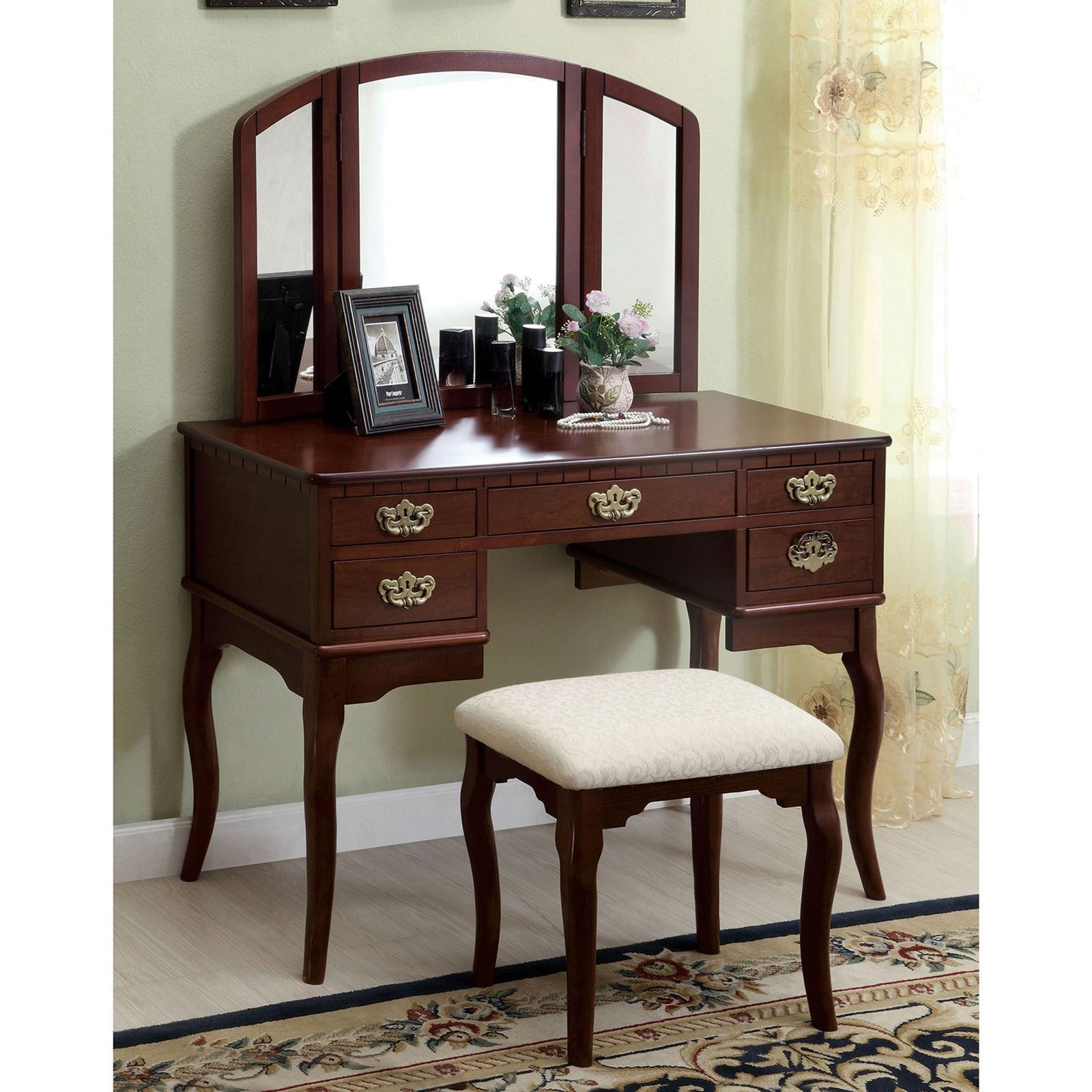 Ashland Vanity Table at Household Furniture