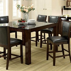 7 Pc Square Counter Height Table and Stools Set