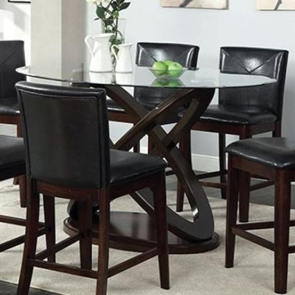Atenna II Glass Top Oval Counter Height Table at Household Furniture