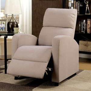 Push Back Recliner with Track Arms
