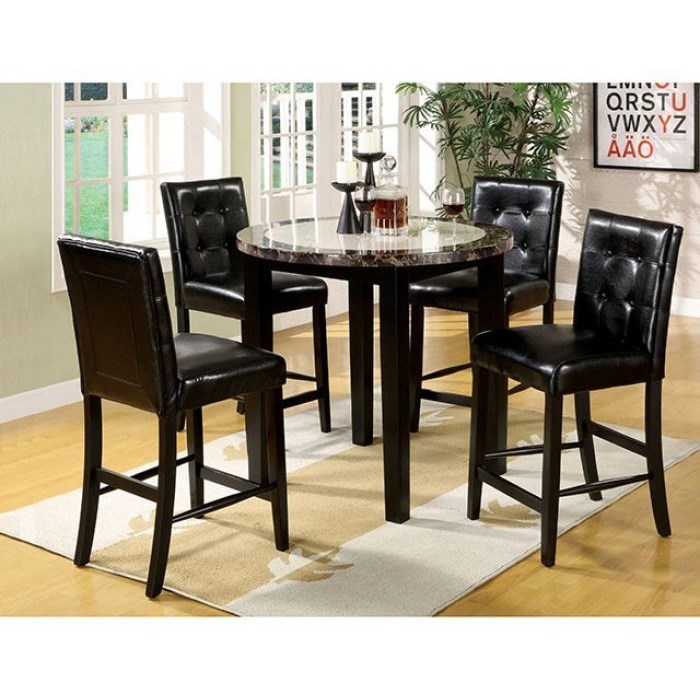Atlas IV 5 Piece Counter Height Table and Stool Set at Household Furniture