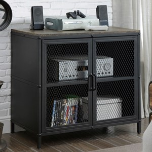 """31"""" TV Stand with Wire Mesh Doors"""
