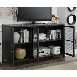 """47"""" TV Stand with Wire Mesh Doors"""