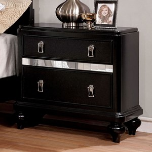 Transitional Nightstand with Felt-Lined Top Drawer
