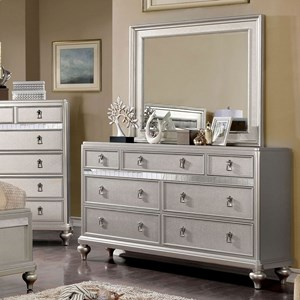 Contemporary Dresser with Felt-Lined Top Drawer